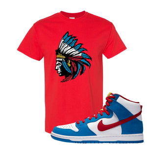 SB Dunk High Doraemon T Shirt | Indian Chief, Red