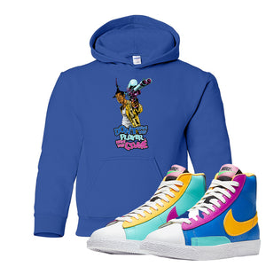 Blazer Mid Big Kids Hoodie | Royal, Don't Hate The Playa