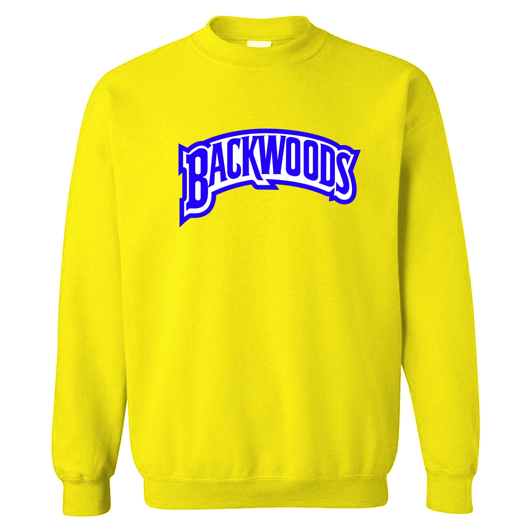 1366cf75bc0f ... Backwoods Yellow Crewneck  Printed on the front of the Air Jordan 5  Laney Alternate JSP sneaker matching crewneck is
