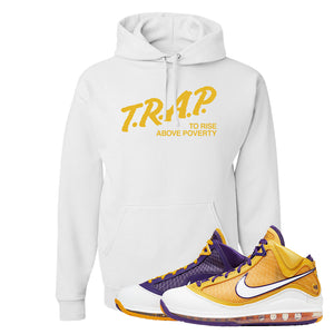 Lebron 7 'Media Day' Hoodie | White, Trap To Rise Above Poverty