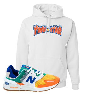 997S Multicolor Sneaker White Pullover Hoodies | Hoodies to match New Balance 997S Multicolor Shoes | Trap Star
