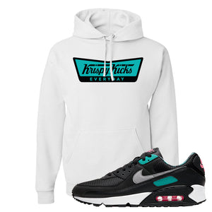Air Max 90 Black New Green Hoodie | Krispy Kicks, White