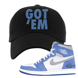 Air Jordan 1 High Hyper Royal Dad Hat | Got Em, Black
