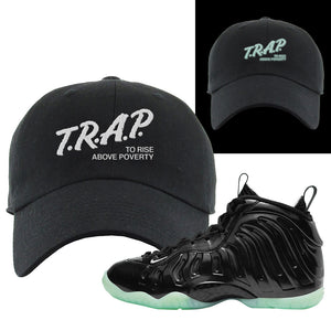 Foamposite One 2021 All Star Dad Hat | Trap To Rise Above Poverty, Black
