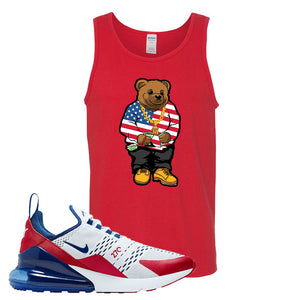 Air Max 270 USA Tank Top | Red, Sweater Bear