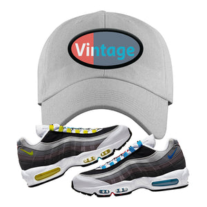 Air Max 95 QS Greedy Dad Hat | Light Gray, Vintage Oval