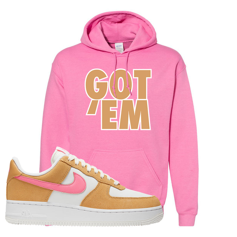 Nike Air Force 1 Pink Orange Hoodie  | Got Em, Azalea