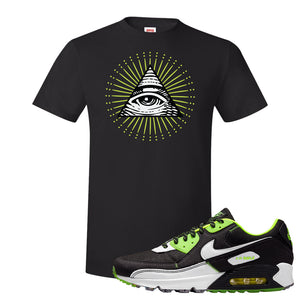 Air Max 90 Exeter Edition Black T Shirt | All Seeing Eye, Black