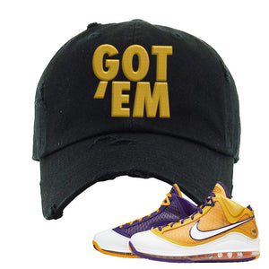 Lebron 7 'Media Day' Distressed Dad Hat | Black, Got Em