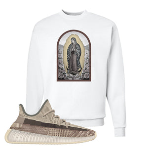 Yeezy 350 v2 Zyon Crewneck | White, Virgin Mary