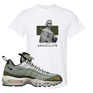 Air Max 95 Surplus Supply T Shirt | The Vibes Are Immaculate, White
