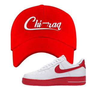 Air Force 1 Low Red Bottoms Dad Hat | Red, Chiraq