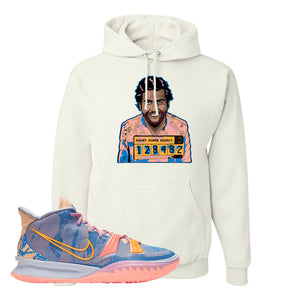 Kyrie 7 Expressions Hoodie | Escobar Illustration, White