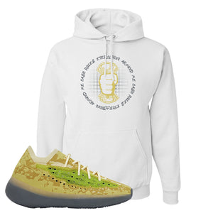 Yeezy Boost 380 Hylte Glow Hoodie | Cash Rules Everything Around Me, White