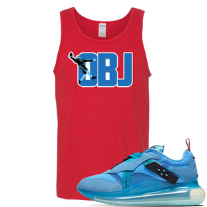 Air Max 720 OBJ Slip Light Blue Tank Top | Red, OBJ catch