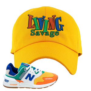 997S Multicolor Sneaker Yellow Dad Hat | Hat to match New Balance 997S Multicolor Shoes | Living Savage