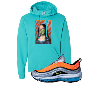 Air Max Plus Sky Nike Hoodie | Scuba Blue, Mona Lisa Mask
