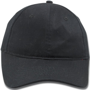 Blank Black Youth Sized Adjustable Baseball Cap