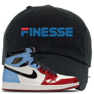 Air Jordan 1 Fearless Finesse Black Made to Match Distressed Dad Hat