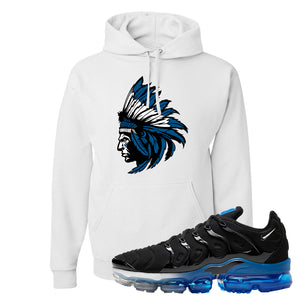 Air VaporMax Plus Black/Royal Hoodie | Indian Chief, White