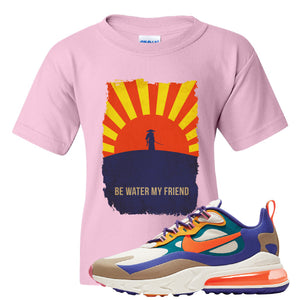 Air Max 270 React ACG Kid's T-Shirt | Light Pink, Be Water My Friend Samurai
