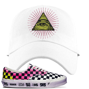 Vans Era Venice Beach Pack Dad Hat | White, All Seeing Eye