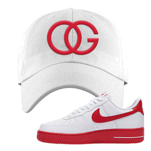 Air Force 1 Low Red Bottoms Dad Hat | White, OG