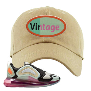Air Max 720 WMNS Black Fossil Sneaker Khaki Dad Hat | Hat to match Nike Air Max 720 WMNS Black Fossil Shoes | Vintage Oval