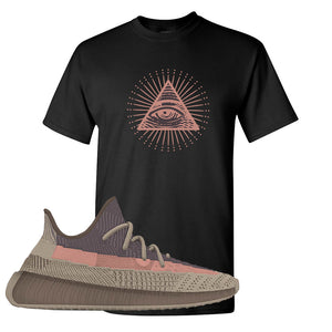 Yeezy 350 v2 Ash Stone T Shirt | All Seeing Eye, Black