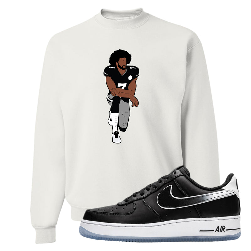 Colin Kaepernick X Air Force 1 Low Crewneck Sweatshirt | White, Kaepernick Fist Kneeling