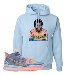 Kyrie 7 Expressions Hoodie | Escobar Illustration, Light Blue
