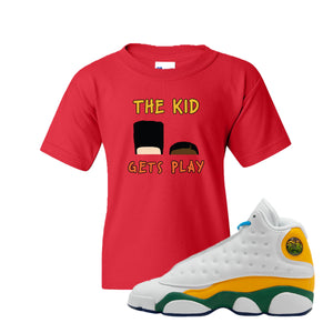 The Kids Gets Play Red Kid's T-Shirt to match Air Jordan 13 GS Playground Kids Sneaker