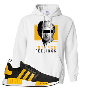 NMD R1 Active Gold Hoodie | White, Intense Feelings