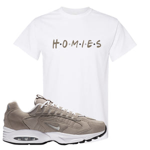 Air Max Triax 96 Grey Suede T Shirt | Homies, White