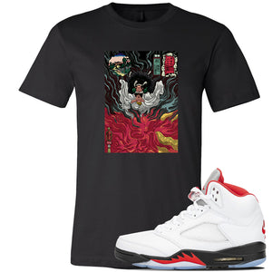 Air Jordan 5 OG Fire Red T Shirt | Black, Mastering Fire