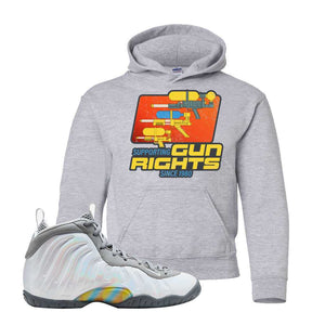 Lil Posite One Rainbow Pixel Kids Hoodie | Sport Grey, Water Soaker