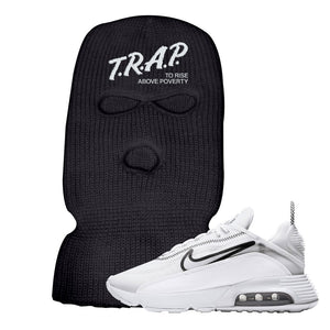 Air Max 2090 White Ski Mask | Black, Trap To Rise Above Poverty