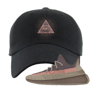 Yeezy 350 v2 Ash Stone Dad Hat | All Seeing Eye, Black