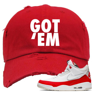 This red dad hat will match great with your Jordan 3 Tinker Air Max shoes