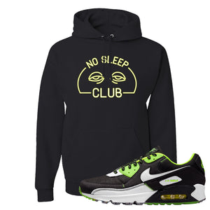 Air Max 90 Exeter Edition Black Hoodie | No Sleep Club, Black