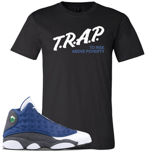 Jordan 13 Flint 2020 Sneaker Black T Shirt | Tees to match Nike Air Jordan 13 Flint 2020 Shoes | Trap To Rise