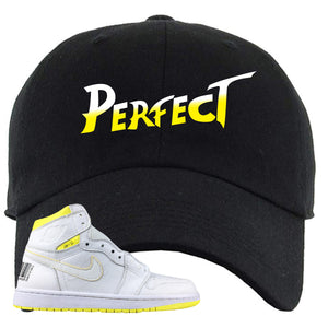 Air Jordan 1 First Class Flight Street Fight Perfect Black Sneaker Matching Dad Hat
