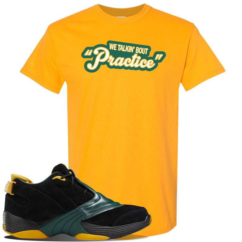 Answer 5 Bethel High Sneaker Gold T Shirt | Tees to match Reebok Answer 5 Bethel High Shoes | Talkin Bout Practice