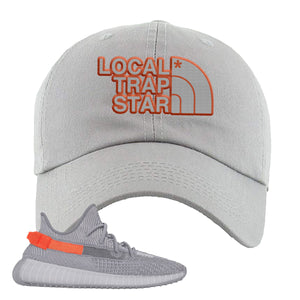 Yeezy Boost 350 V2 Tail Light Sneaker Light Gray Dad Hat | Hat to match Adidas Yeezy Boost 350 V2 Tail Light Shoes | Local Trap Star