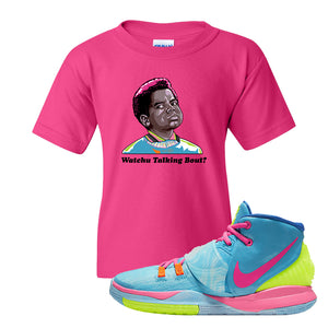 Kyrie 6 Pool Kids T-Shirt | Watchu Talking Bout, Heliconia