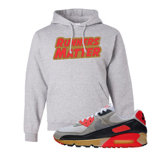 Air Max 90 Infrared Hoodie | Runners Matter, Ash