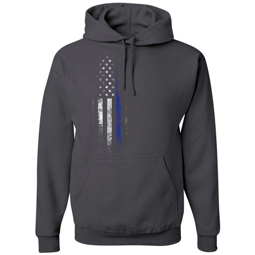 Standard Issue Blue Lives Matter Distressed Gray Grunt Life Hoodie