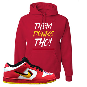 Nike Dunk Low Vietnam 25th Anniversary Pullover Hoodie | Them Dunks Tho, Red