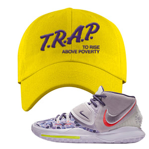 Kyrie 6 Asia Irving Dad Hat | Trap To Rise Above Poverty, Yellow