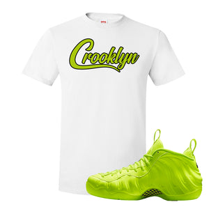 Air Foamposite Pro Volt T Shirt | Crooklyn, White